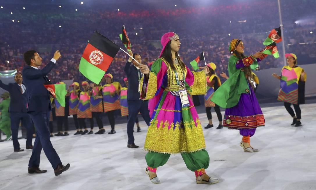 Delegação do Afeganistão KAI PFAFFENBACH / REUTERS
