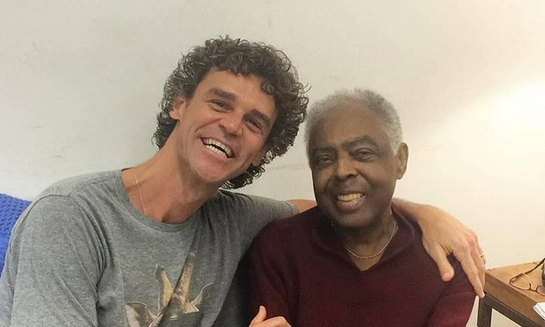 Gustavo Kuerten e Gilberto Gil Reprodução