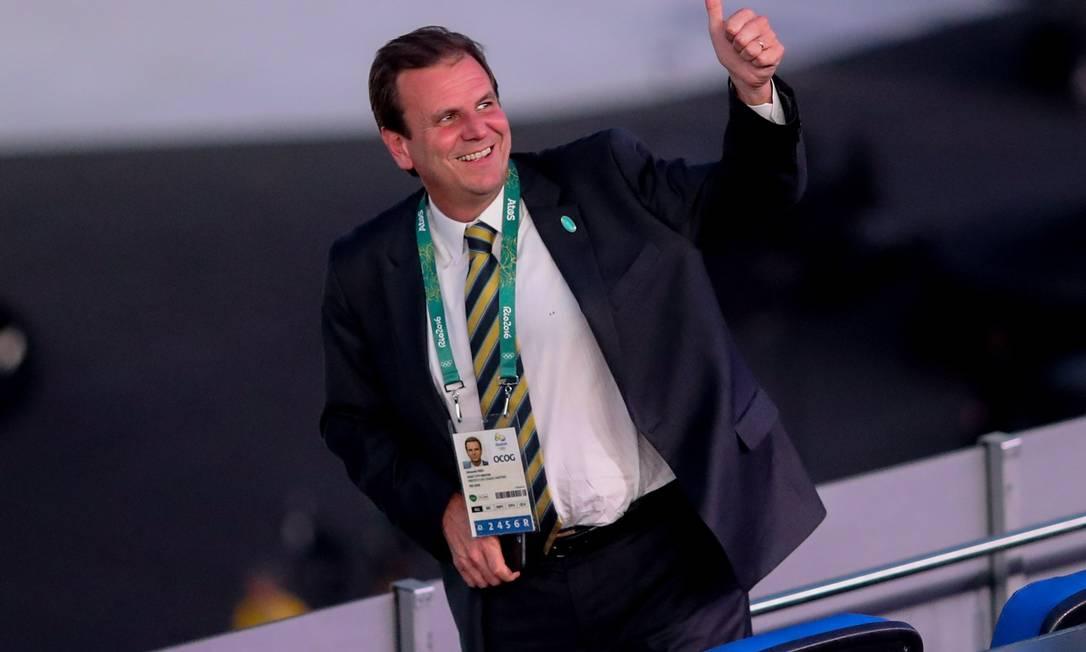 Eduardo Paes no Maracanã Agência O Globo