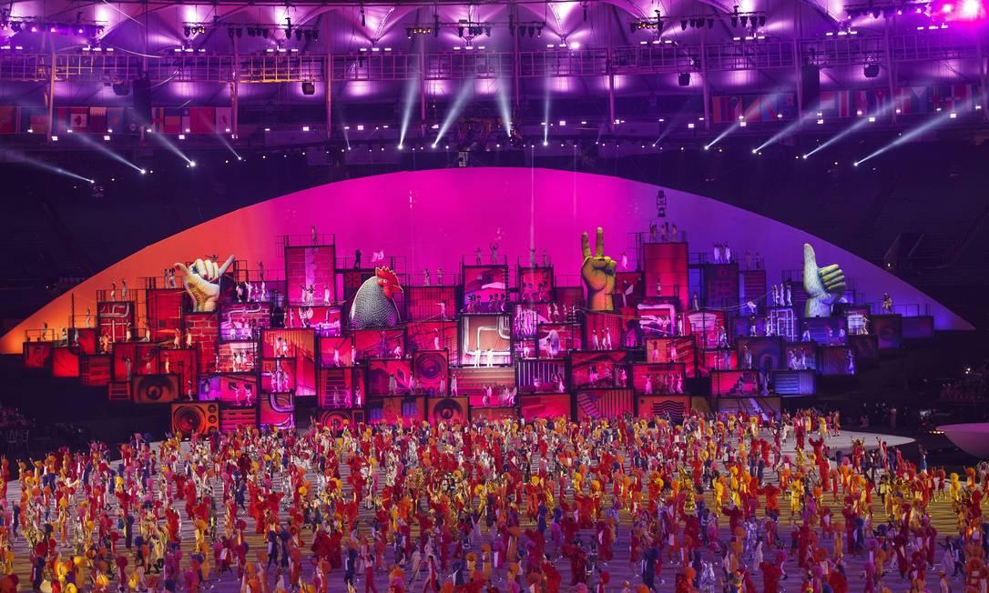 Cerimônia de abertura dos Jogos Olimpicos Rio 2016, no Maracanã Daniel Marenco / Agencia O Globo / Agência O Globo