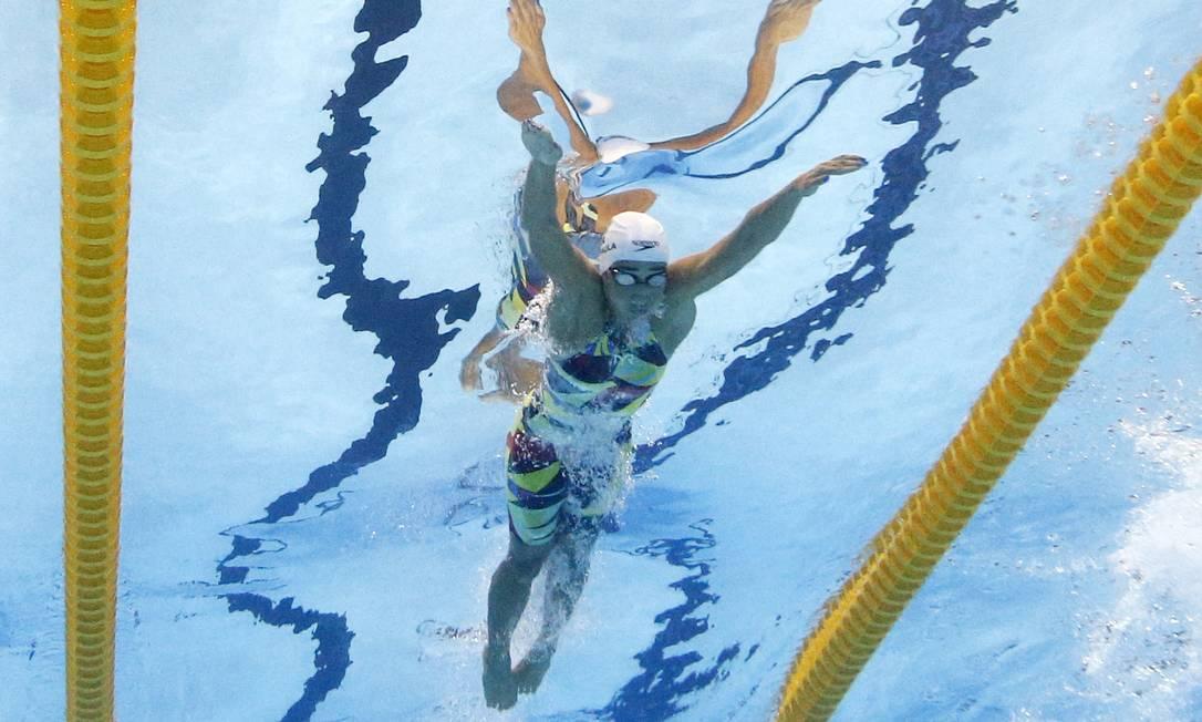 Dainara De Paula (BRA) do Brasil nos 100m borboleta feminino MICHAEL DALDER / REUTERS