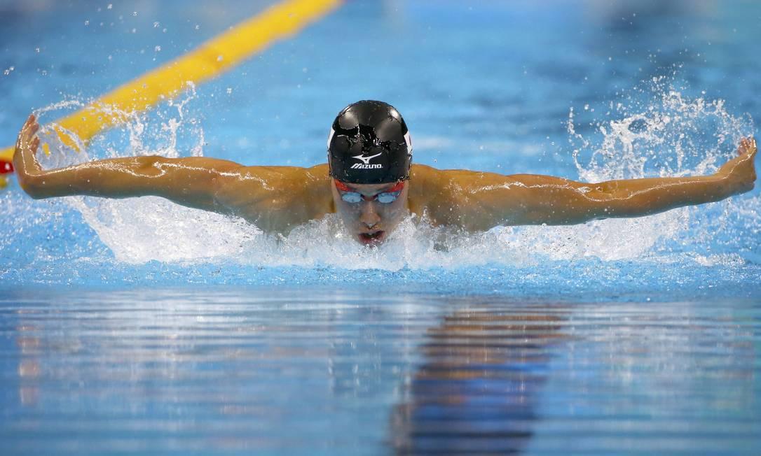 Kosuke Hagino do Japão nos Masculino 400m Individual Medley DAVID GRAY / REUTERS