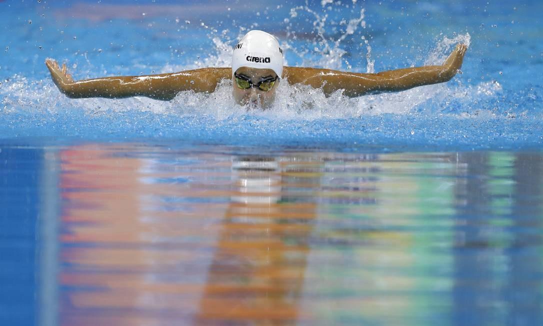 Yusra Mardini nos 100m borboleta feminino Michael Sohn / AP