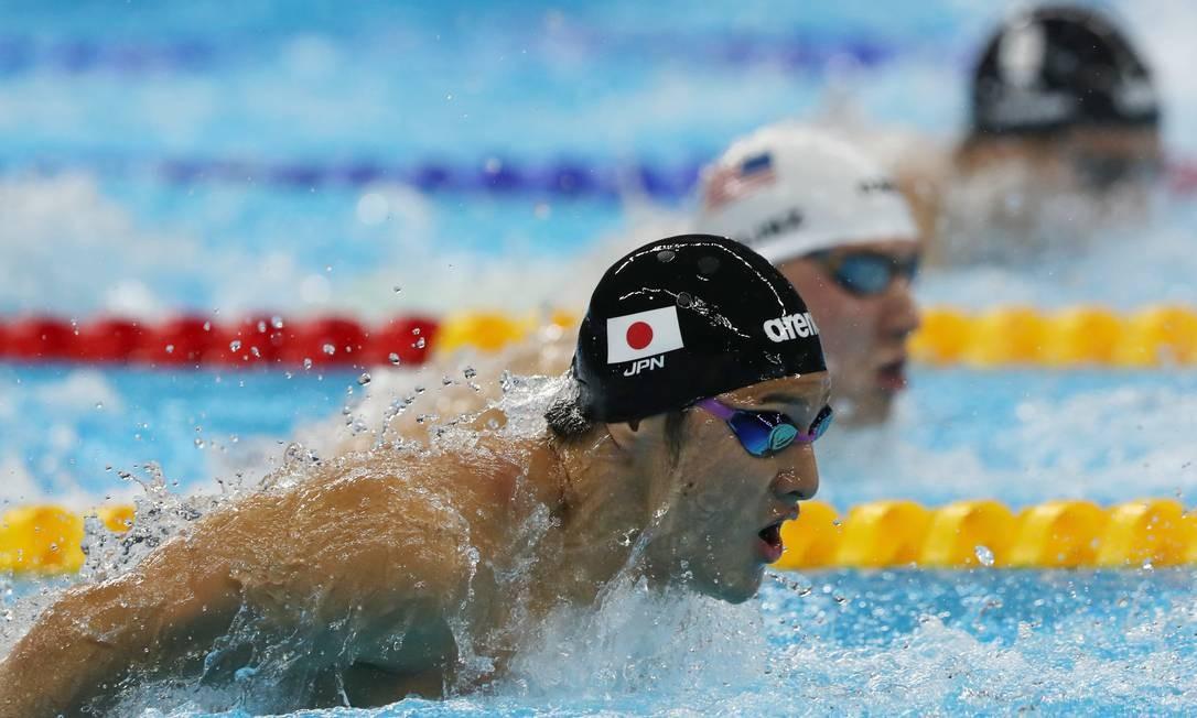 Daiya Seto do Japão nos Masculino 400m Individual Medley Lee Jin-man / AP