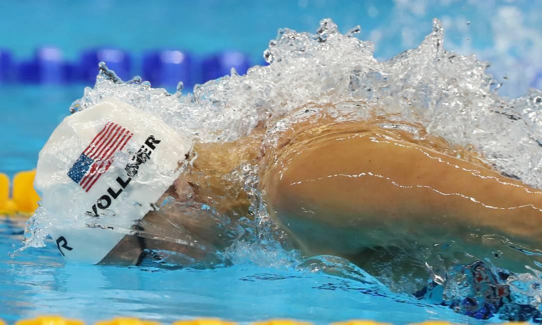 A Americana Dana nos 100m borboleta feminino Lee Jin-man / AP