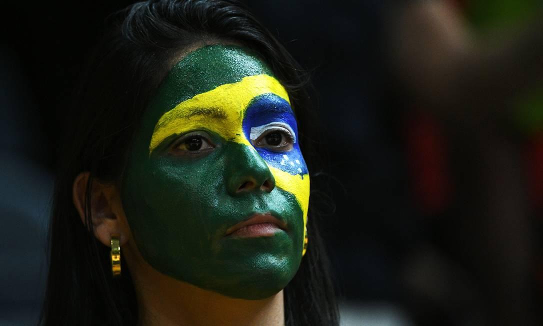 Vôlei Masculino: Brasil x México no Maracanãzinho JOHANNES EISELE / AFP