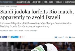 Para jornais de Israel, lutadora da Arábia Saudita quis evitar o confronto Foto: Reprodução