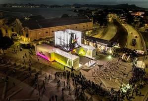 Espaço da Nike, no Centro, promove atividades esportivas Foto: MIRIAN FICHTNER/Divulgação