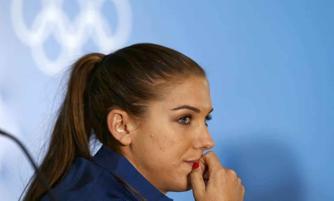 lex Morgan, da seleção de futebol dos Estados Unidos, tem 27 anos MARIANA BAZO / REUTERS