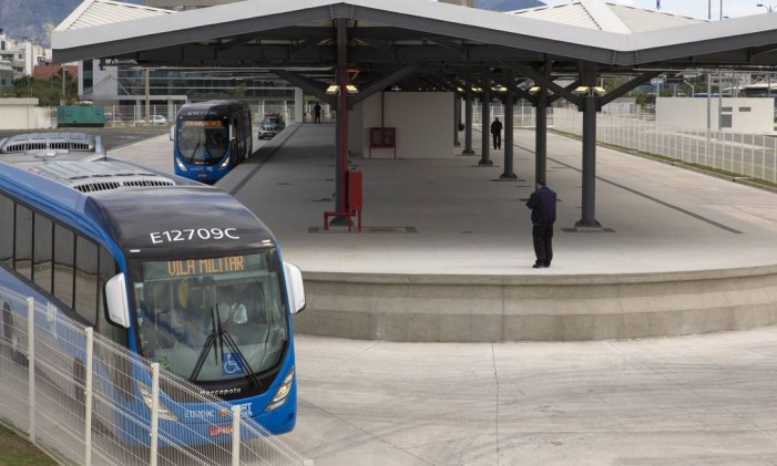 Terminal do BRT Transolimpico Foto: Leo Martins/Agência O Globo