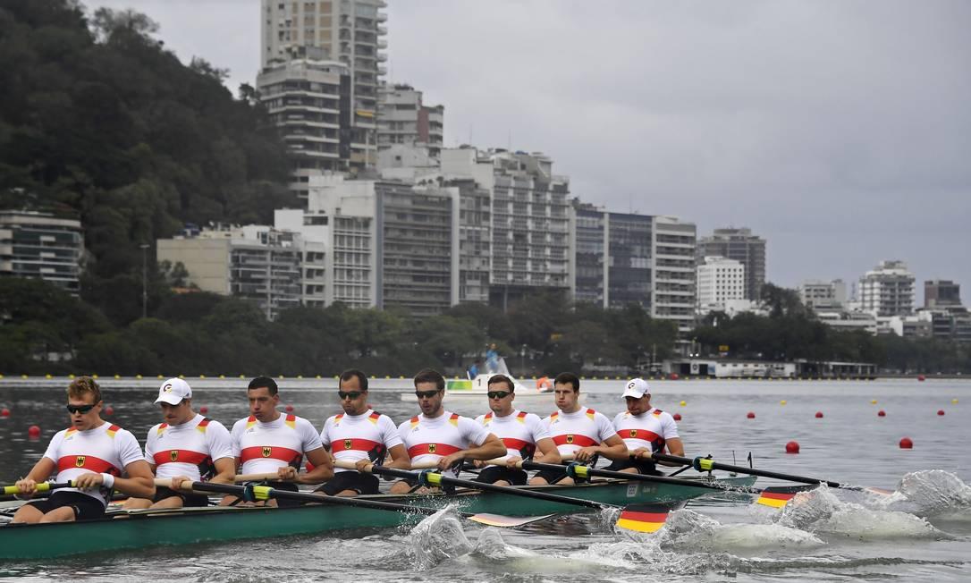 Equipe de remo da Alemanha DAMIEN MEYER/AFP