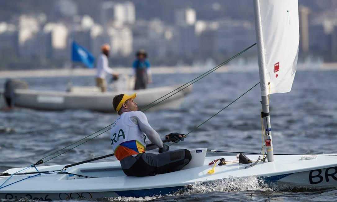 Scheidt venceu as duas últimas competições na raia da Baía de Guanabara, em julho Daniel Marenco / Agência O Globo