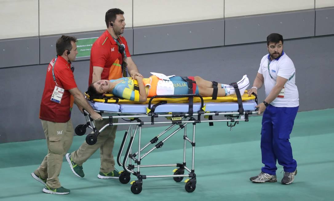 Melissa teve que ser levada a um hospital, para avaliar seu estado de saúde Patrick Semansky / AP