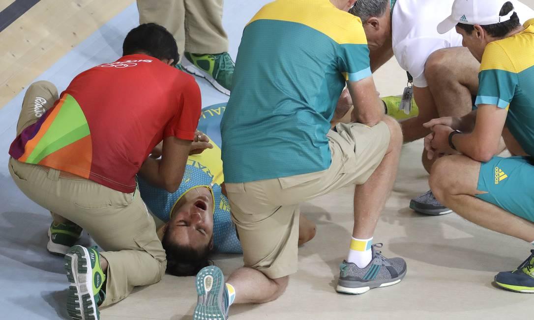 As outras atletas da Austrália sofreram ferimentos leves Patrick Semansky / AP