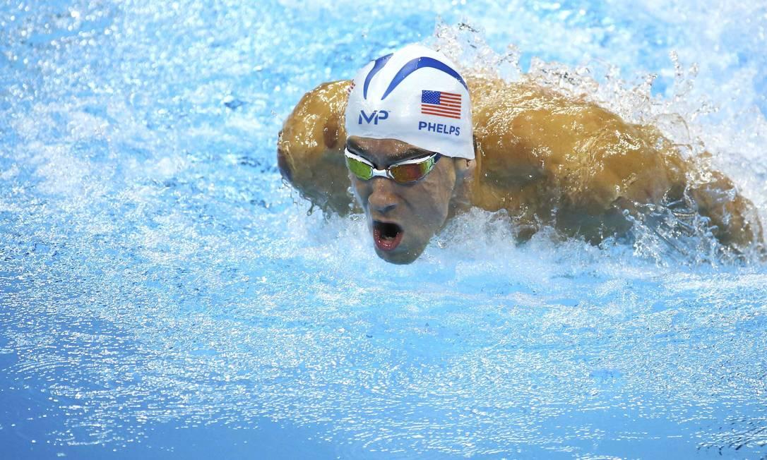 Phelps faturou sua 23ª medalha olímpica na carreira, sendo a 19ª de ouro JEREMY LEE / REUTERS