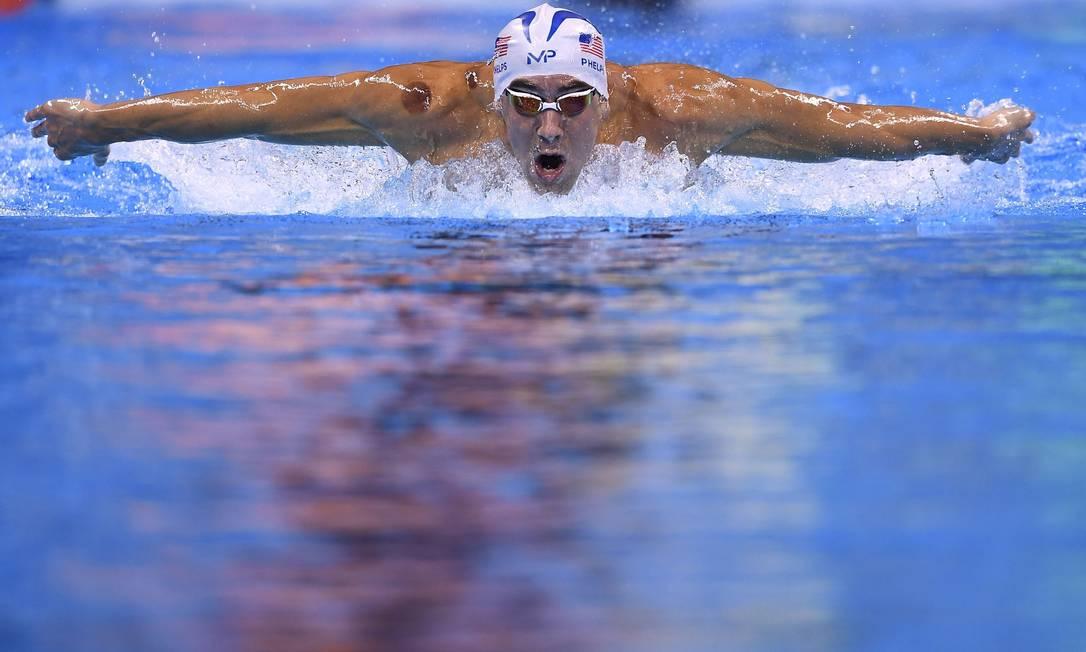 Essa é a última Olimpíada de Michael Phelps GABRIEL BOUYS / AFP