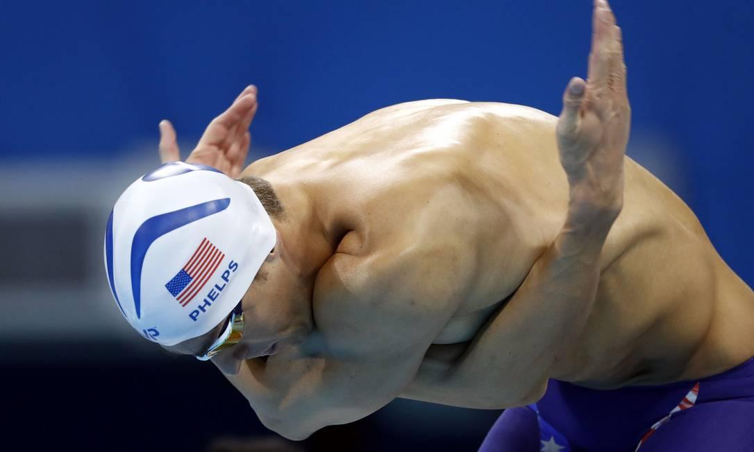 Phelps ainda disputa nos Jogos Rio-2016 as provas de 200m medley masculino ODD ANDERSEN / AFP