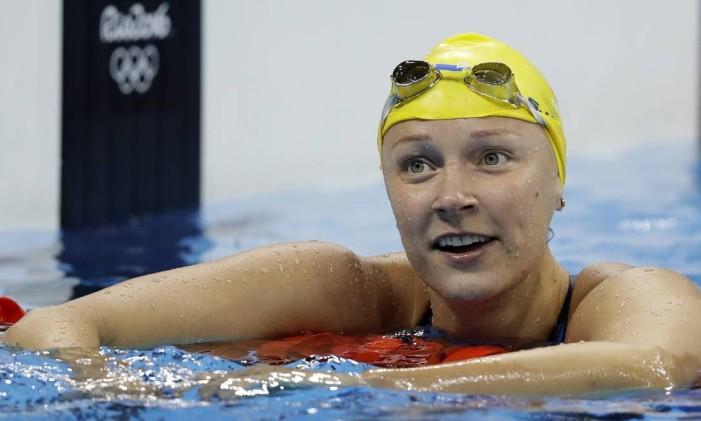 Sarah Sjöström. Sueca quebrou o recorde olímpico, e superou a própria marca na final Foto: Michael Sohn / AP
