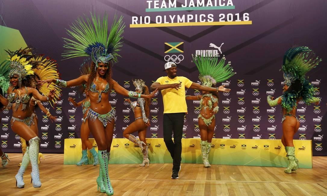 O jamaicano busca o tricampeonato Olímpico em três provas NACHO DOCE / REUTERS