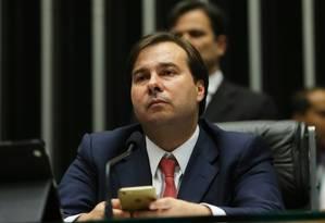 O Presidente da Câmara dos Deputados, Rodrigo Maia (DEM-RJ) Foto: Ailton de Freitas / Agência O Globo 08/08/2016