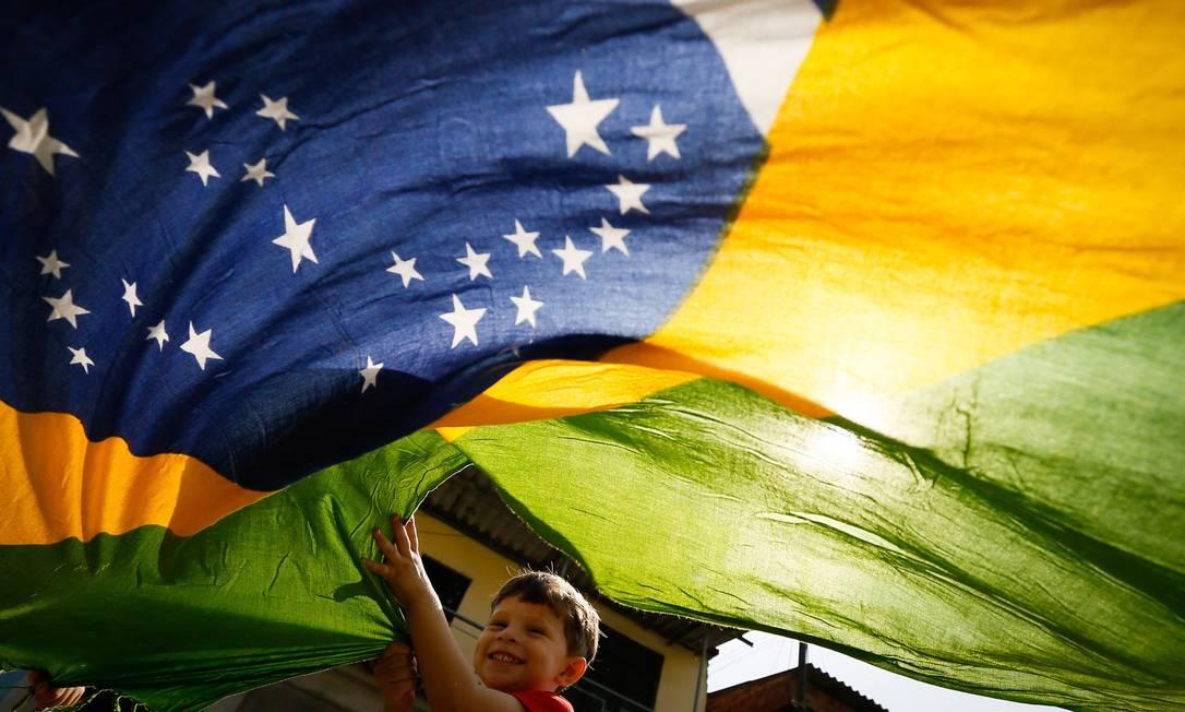 Crianças vizinhas da Rafaela Silva na Cidade de Deus. Foto Pablo Jacob / Agencia O GLobo Pablo Jacob / Agencia O GLobo