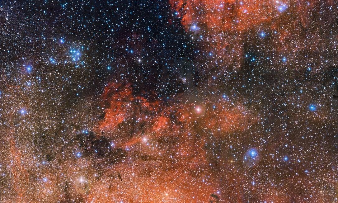 O aglomerado estelar Messier 18 visto em detalhes pelo telescópio VST, do Observatório Europeu do Sul, no Chile Foto: ESO