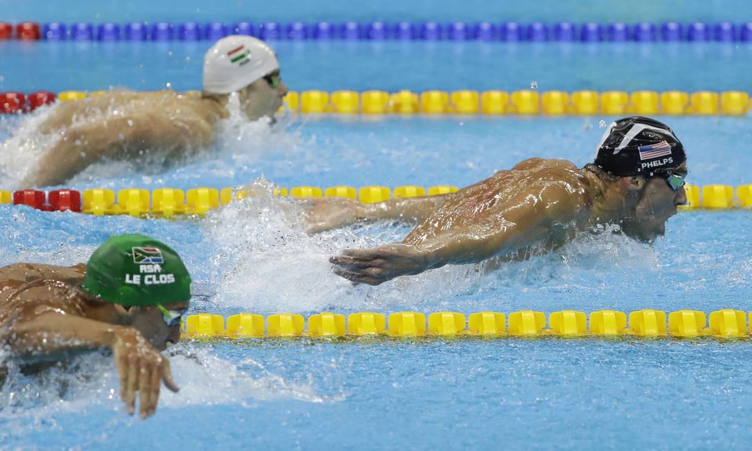 Campeão em 2004 e 2008, Phelps foi prata em 2012, para recuperar o ouro no Rio Matt Slocum / AP