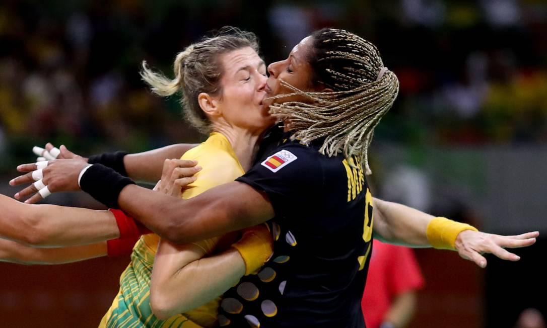 Brasil x Espanha no Handebol feminino na Arena do Futuro Pedro Kirilos / Agência O Globo