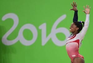 Simone Biles é a grande estrela da ginástica olímpica no mundo atualmente Foto: EMMANUEL DUNAND / AFP