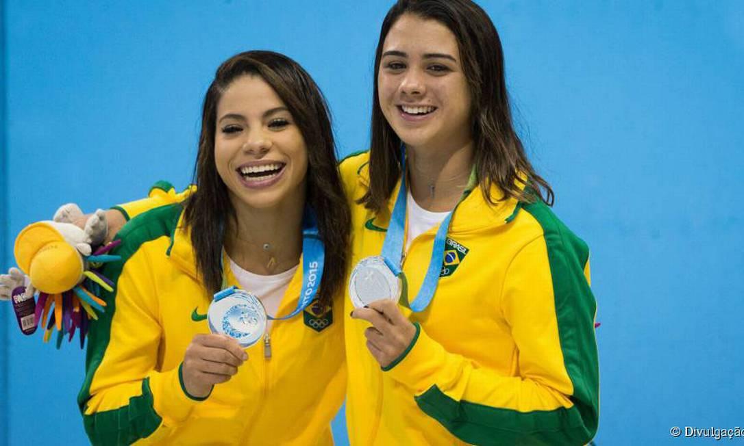 Antes das brigas, Ingrid e sua dupla Giovanna conquistaram a prata no Pan de 2015 divulgação / Reprodução Internet