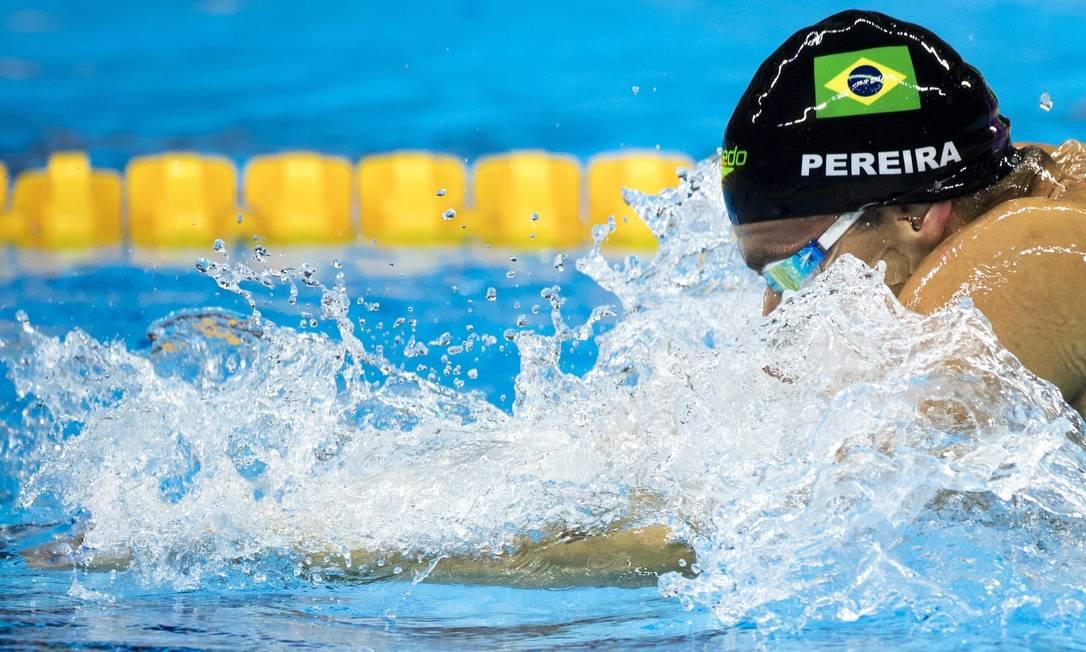 O brasileiro se classificou à semifinal da prova com o quinto melhor tempo Daniel Marenco / Agência O Globo