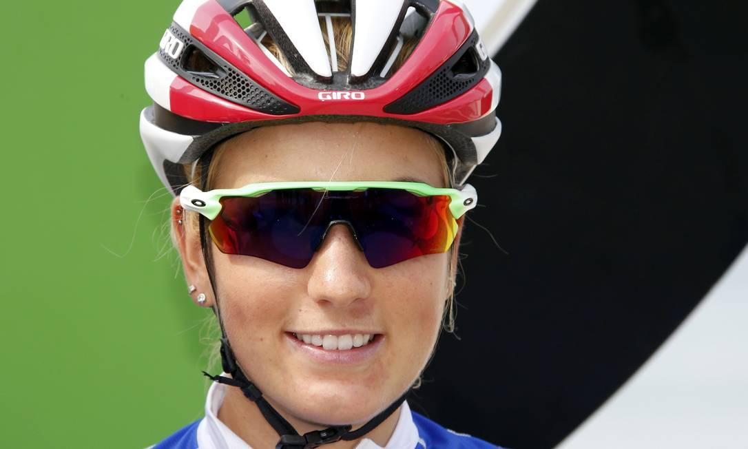 Close na ciclista francesa ERIC GAILLARD / REUTERS