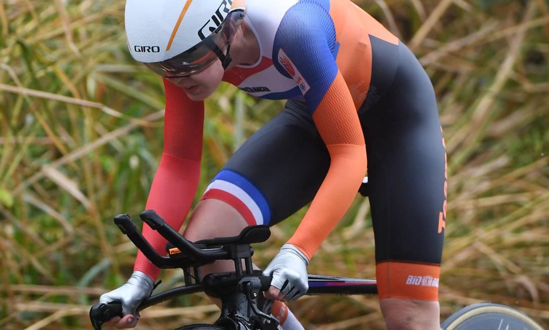 A holandesa Anna Van Der Breggen ficou com o bronze GREG BAKER / AFP
