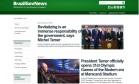 Novo site em inglês da Presidência ignora Dilma Foto: Reprodução