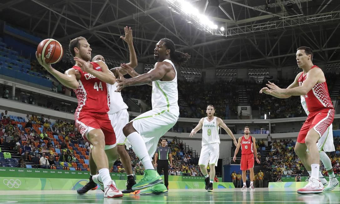 A Croácia terminou o primeiro tempo com dez pontos de diferença (41 a 31) Eric Gay / AP