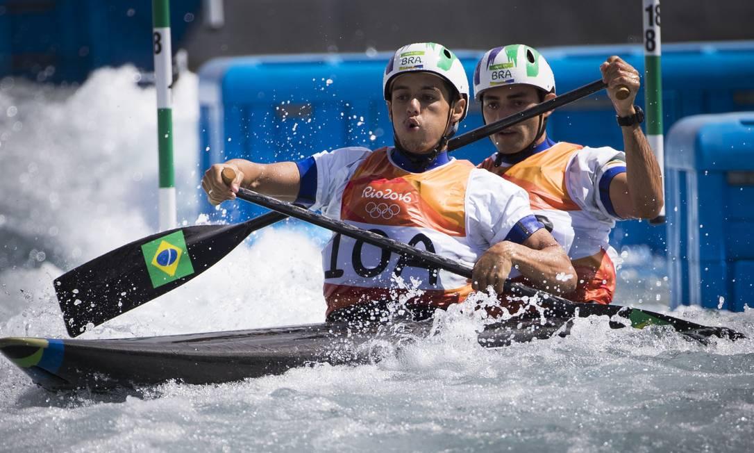 Na fase classificatória, a dupla brasileira fez o tempo de 1'46''14 Guito Moreto / O GLOBO / NOPP