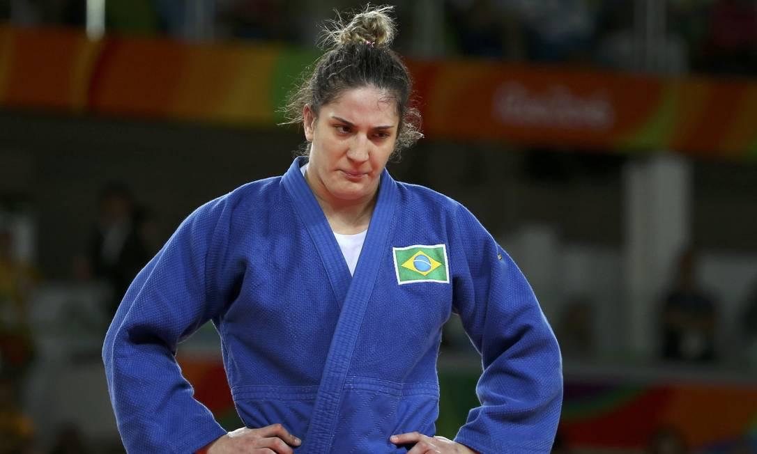 Mayra perdeu a chance de disputar o ouro ao perder para a francesa Audrey Tcheumeo TORU HANAI / REUTERS