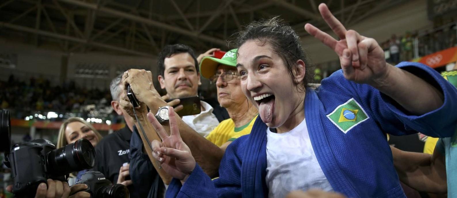 Com a vitória, o judô brasileiro chegou a sua 21ª medalha olímpica Foto: TORU HANAI / REUTERS