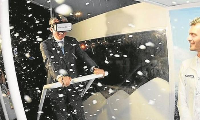 Simulador de neve na Casa da Coreia Foto: Divulgação