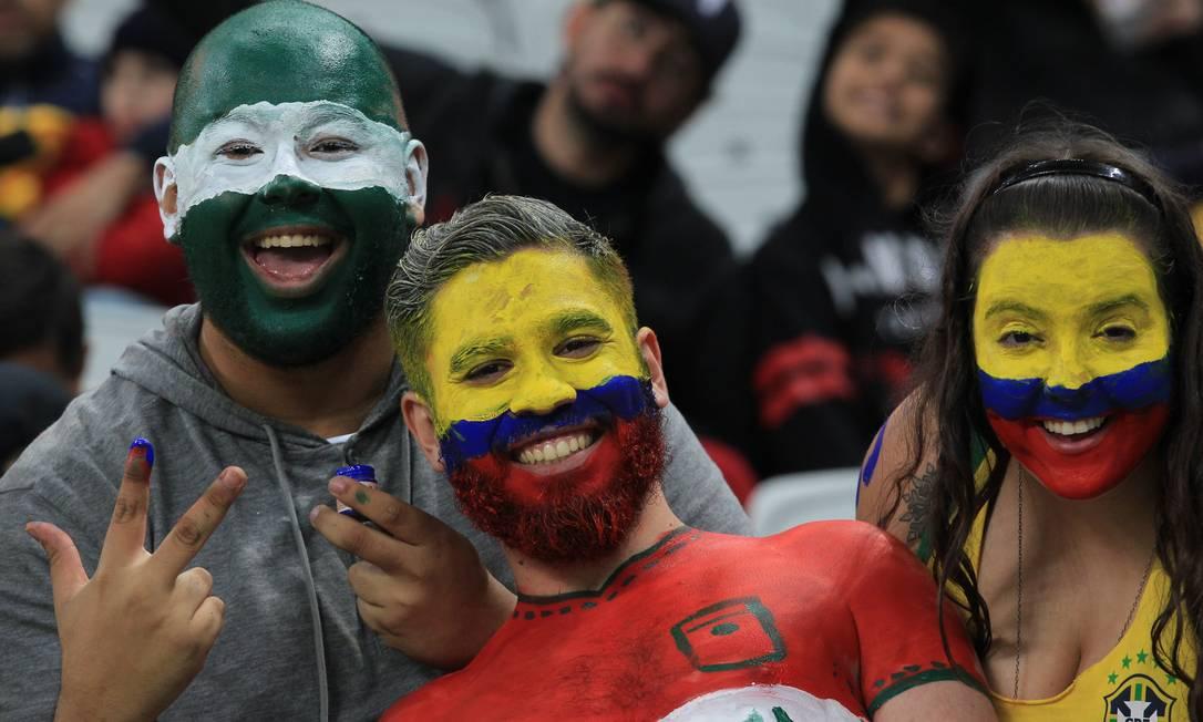 Torneio Masculino Africa do Sul x Iraque. Na foto torcida do Iraque. Arena Corinthians Marcos Alves / Agência O Globo