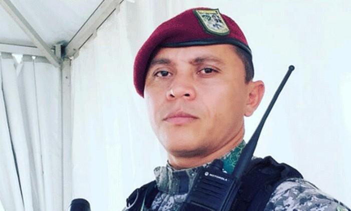 Soldado Vieira, morto com tiro na cabeça no Rio Foto: Reprodução