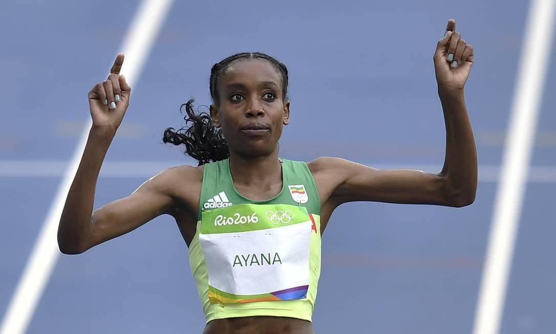 Foi apenas a segunda vez que Almaz Ayana correu os 10.000m. Ainda assim, entrou na prova como favorita Martin Meissner / AP