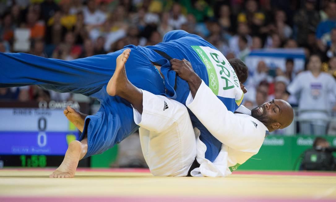 Agora, o brasileiro vai à repescagem; o francês, atual campeão olímpico, segue à semifinal Danilo Verpa / Folha de S.Paulo/NOPP