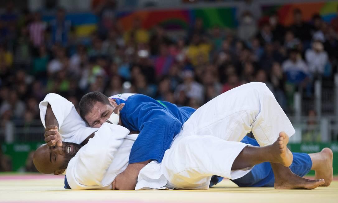 Os dois competiram pela categoria acima de 100 kg. Com o revés de Baby, judô brasileiro não tem mais chance de alcançar a meta estipulada para o Rio-2016 Danilo Verpa / Folha de S.Paulo/NOPP