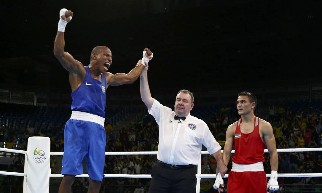 Ele conquistou o bronze no campeonato mundial de Doha, em 2015 e prata nos Jogos Pan-Americanos de Guadalajara PETER CZIBORRA / REUTERS