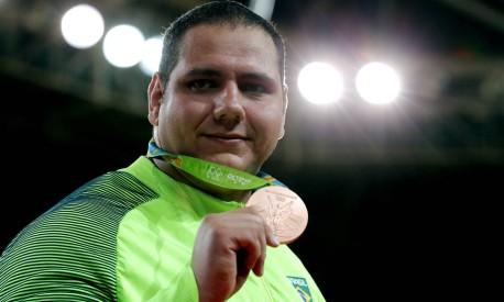 Rafael Silva, medalha de bronze no judô na categoria peso pesado (acima de 100kg) Foto: Marcelo Theobald / Agência O Globo
