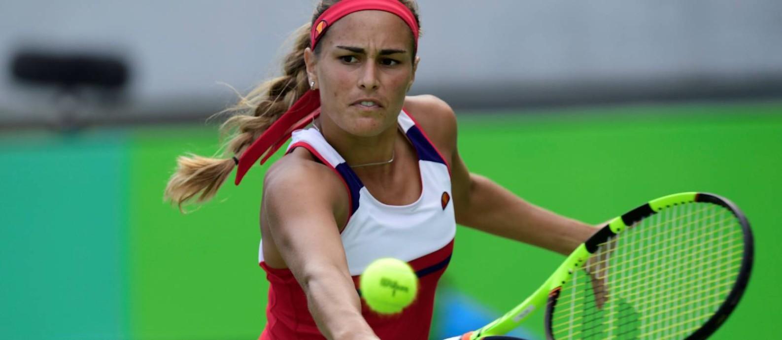 Mónica Pug é a nova campeã olímpica do tênis Foto: JAVIER SORIANO / AFP