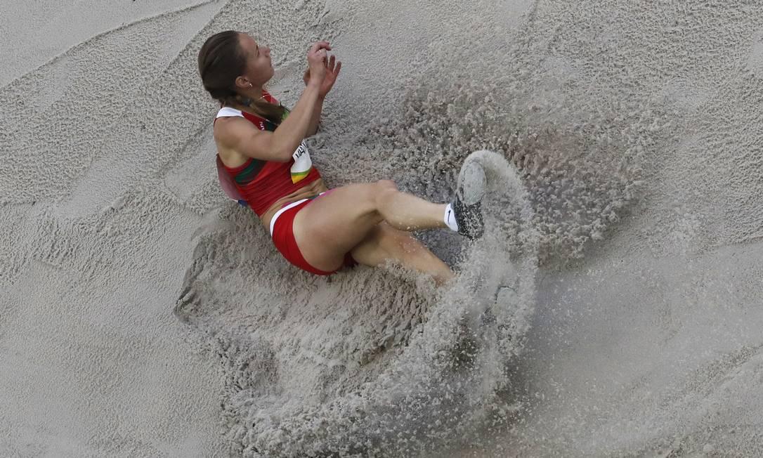 Natallia Viatkina representa Belarus na competição Morry Gash / AP