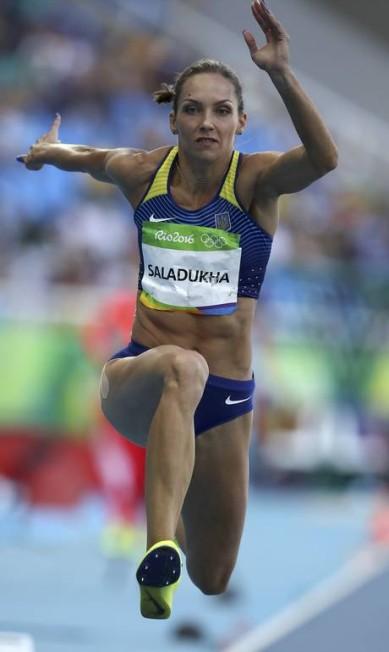 A ucraniana Olga Saladukha compete pela classificação PHIL NOBLE / REUTERS