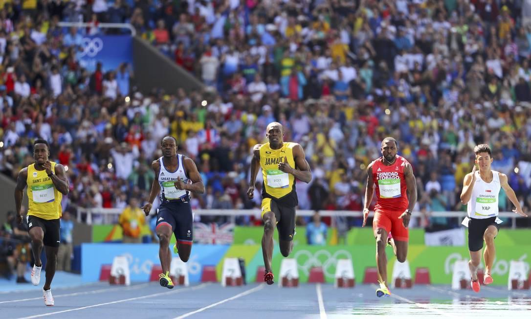 O jamaicano chegou em primeiro, com 10s07, e vai disputar a semifinal LUCY NICHOLSON / REUTERS